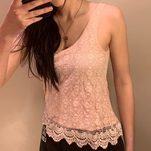 PINK LACE AE TANK
